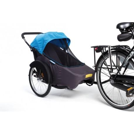"Rimorchio bici Twinny Hera 20 blu"""