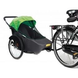 "Rimorchio bici Twinny Hera 20 verde"""